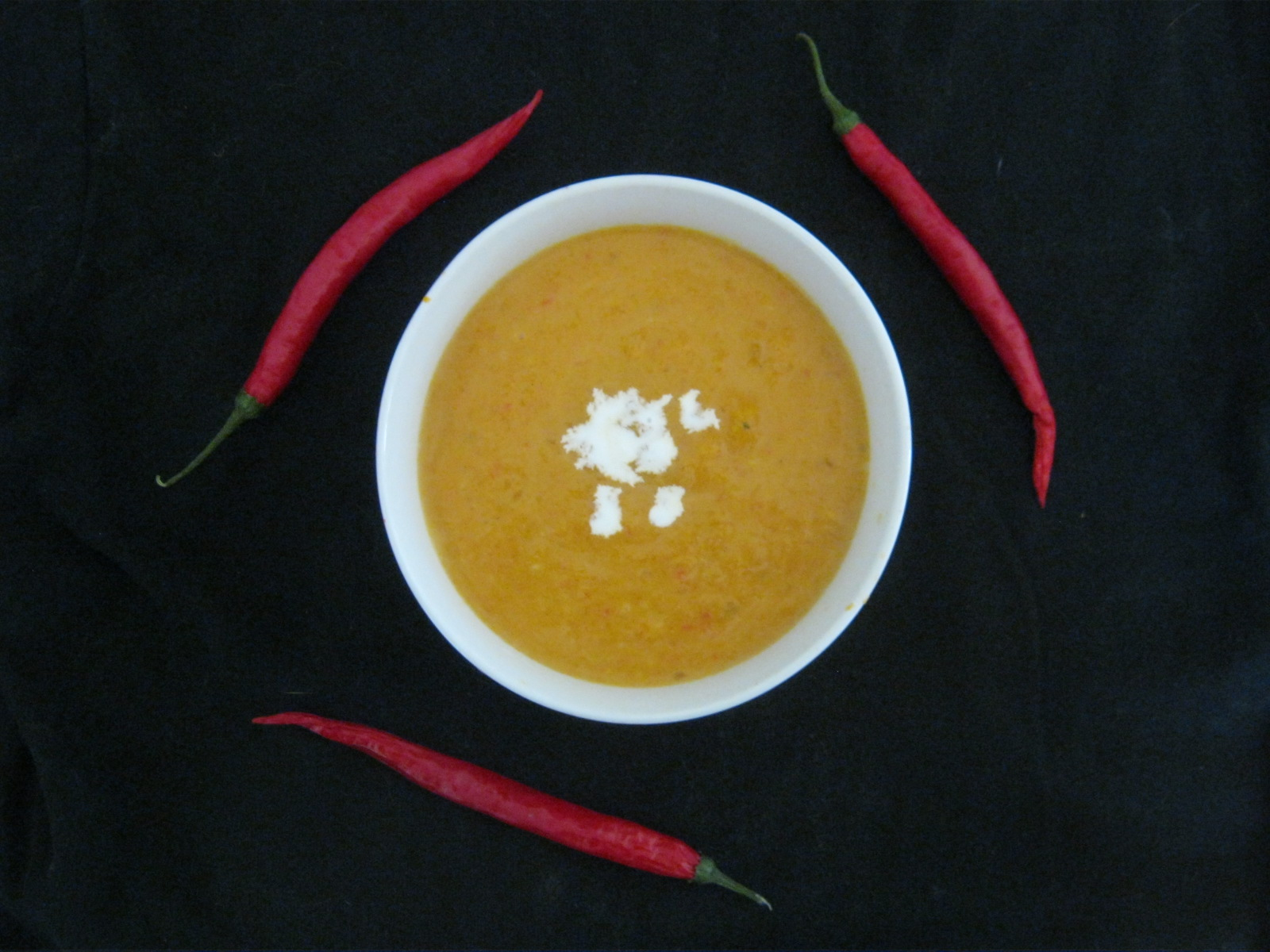 Traditional South African Butternut Soup in a bowl
