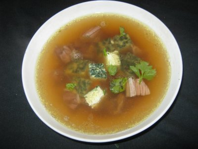 Clear meat broth and other traditional German recipes