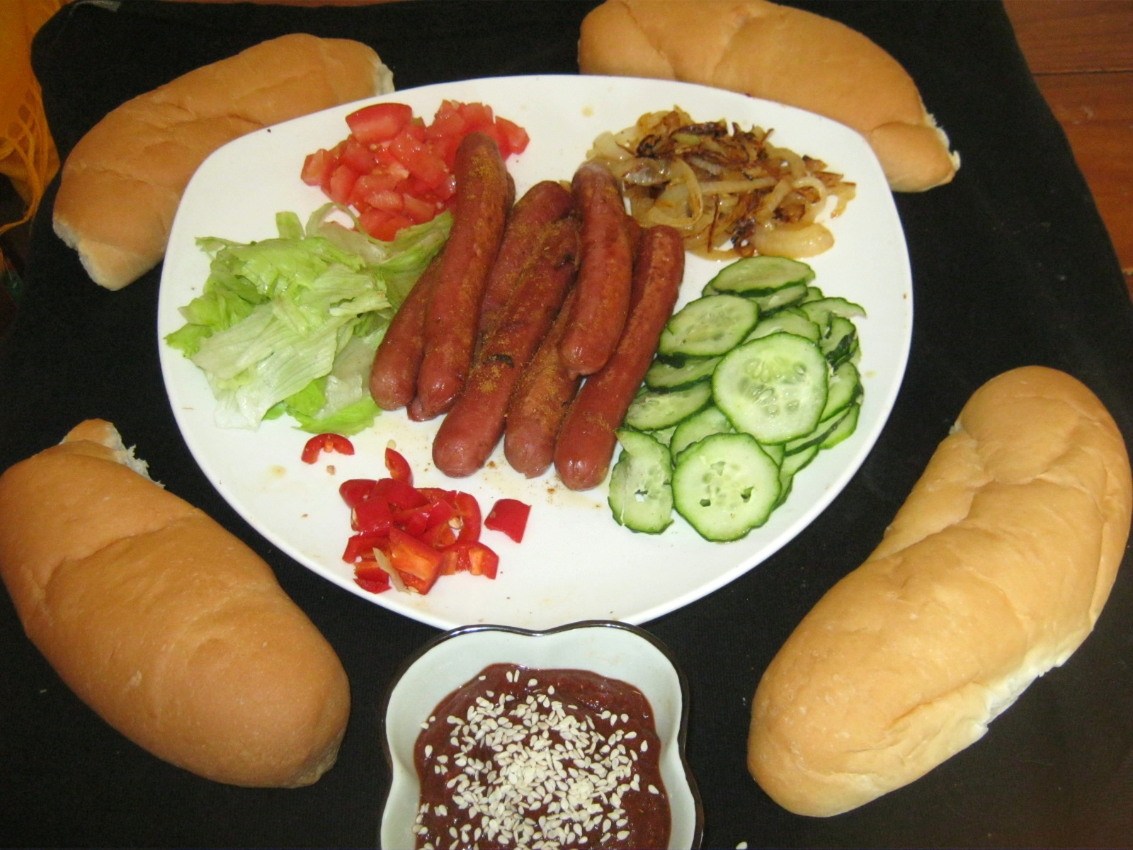 Quick and Healthy Hot Dog with Curry Sauce