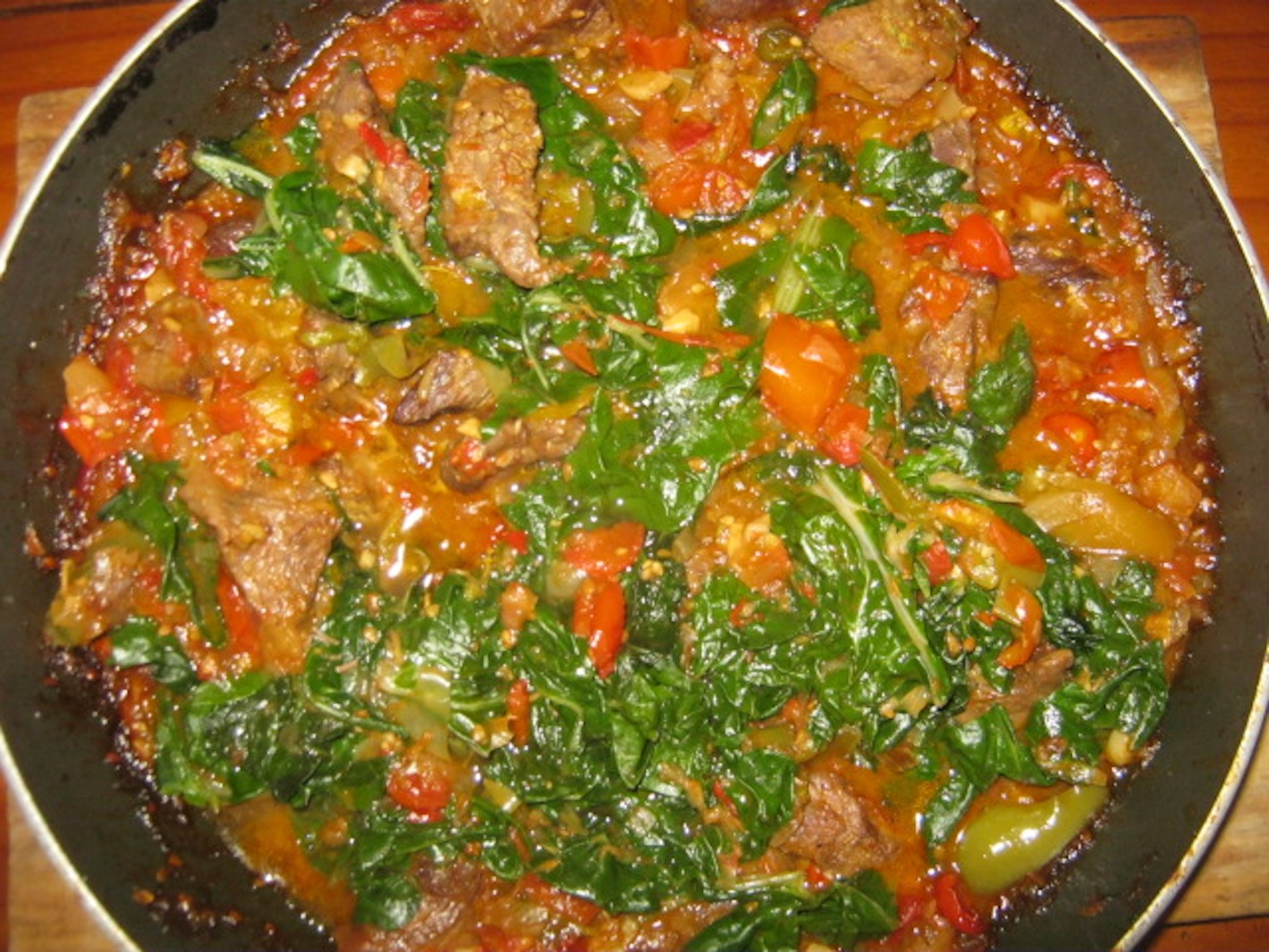 Shoko Ghanaian Beef and Spinach Stew