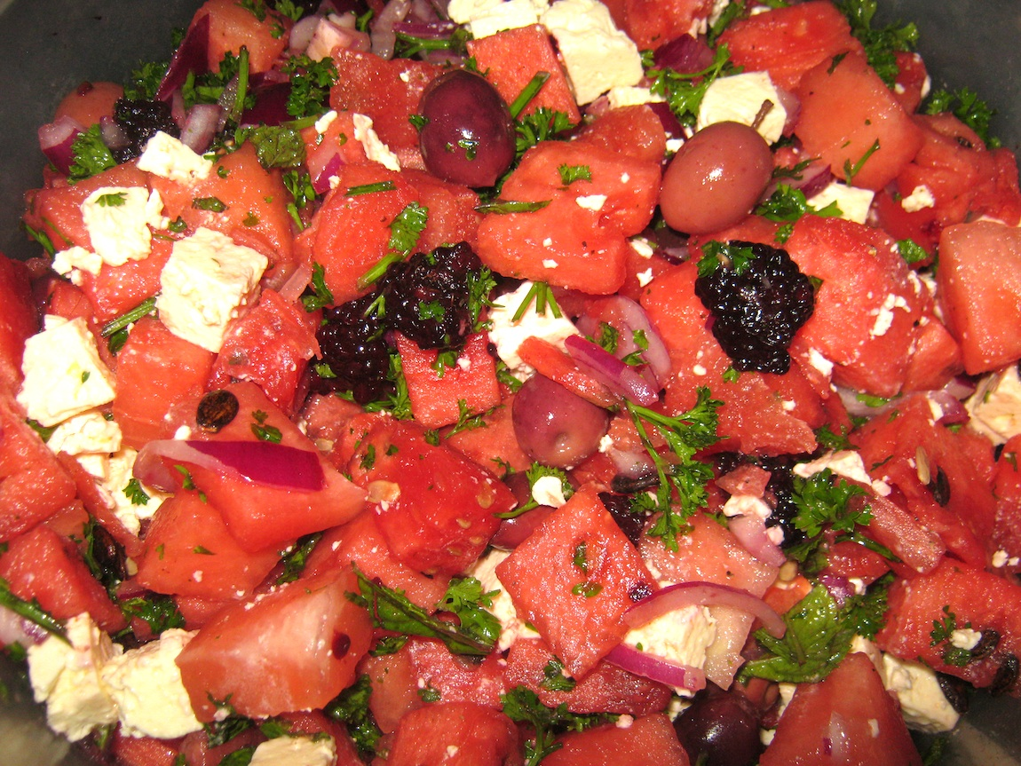 Mediterranean Watermelon Salad