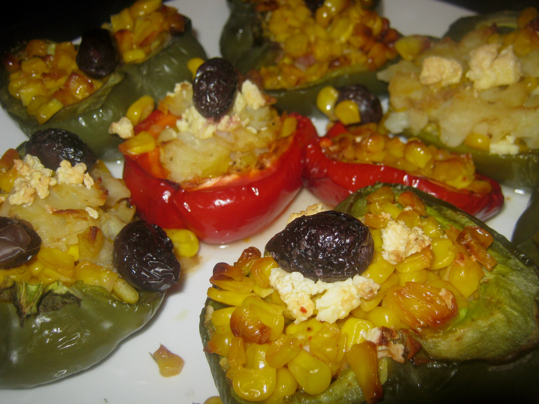 Stuffed bell peppers on a plate