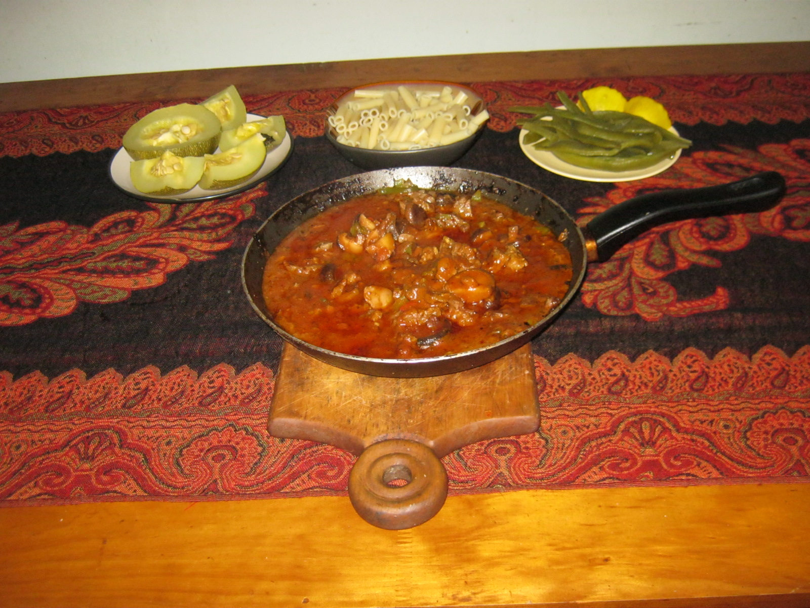 Hungarian Goulash with potatoes and vegetables ready to be served