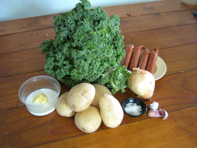 Curly kale casserole ingredients