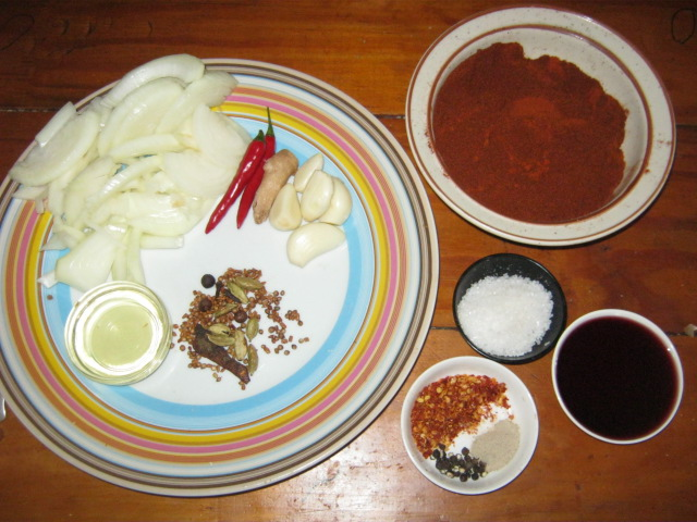Ingredients  for  Ethiopian Berbere Sauce