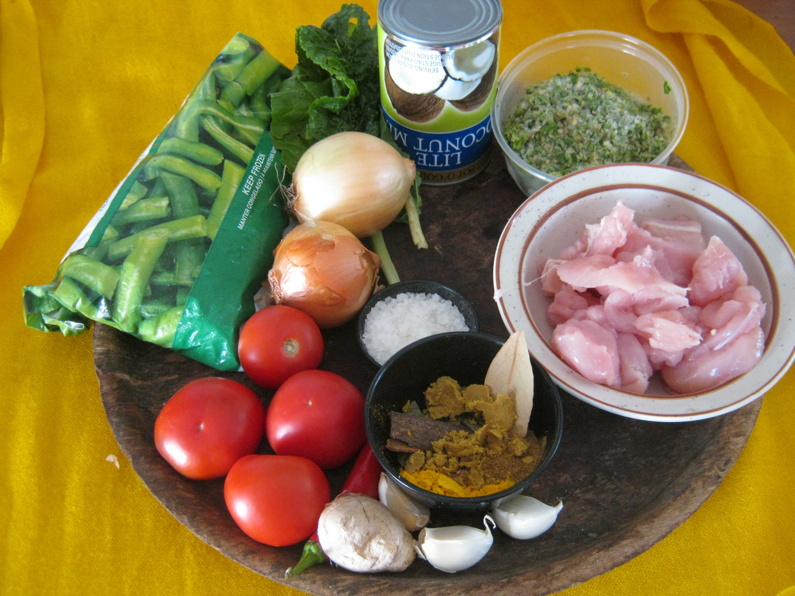 Ingredients for Bombay chicken Curry