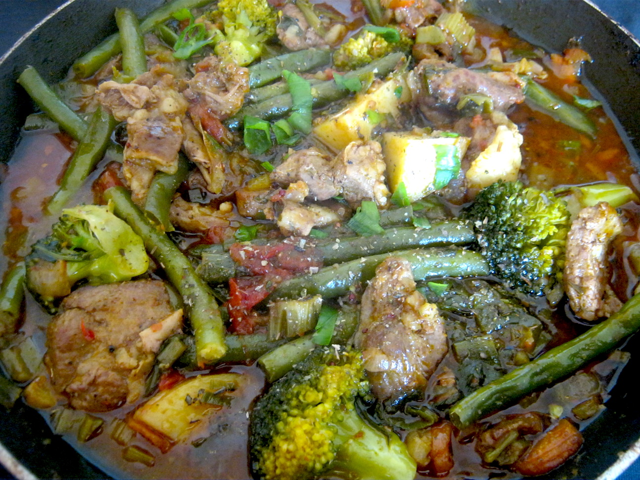 Cape mutton stew in a skillet