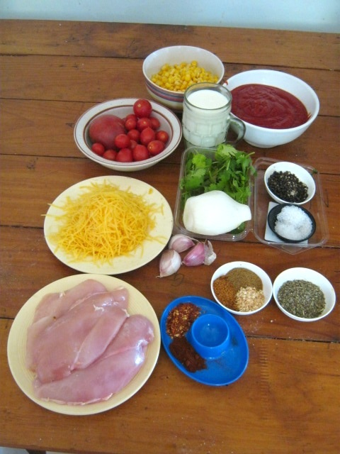 Ingredients for Chicken enchilada recipe