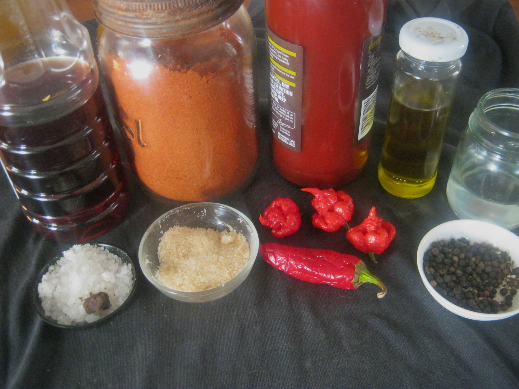 Ingredients  for a traditional German Currywurst Sauce