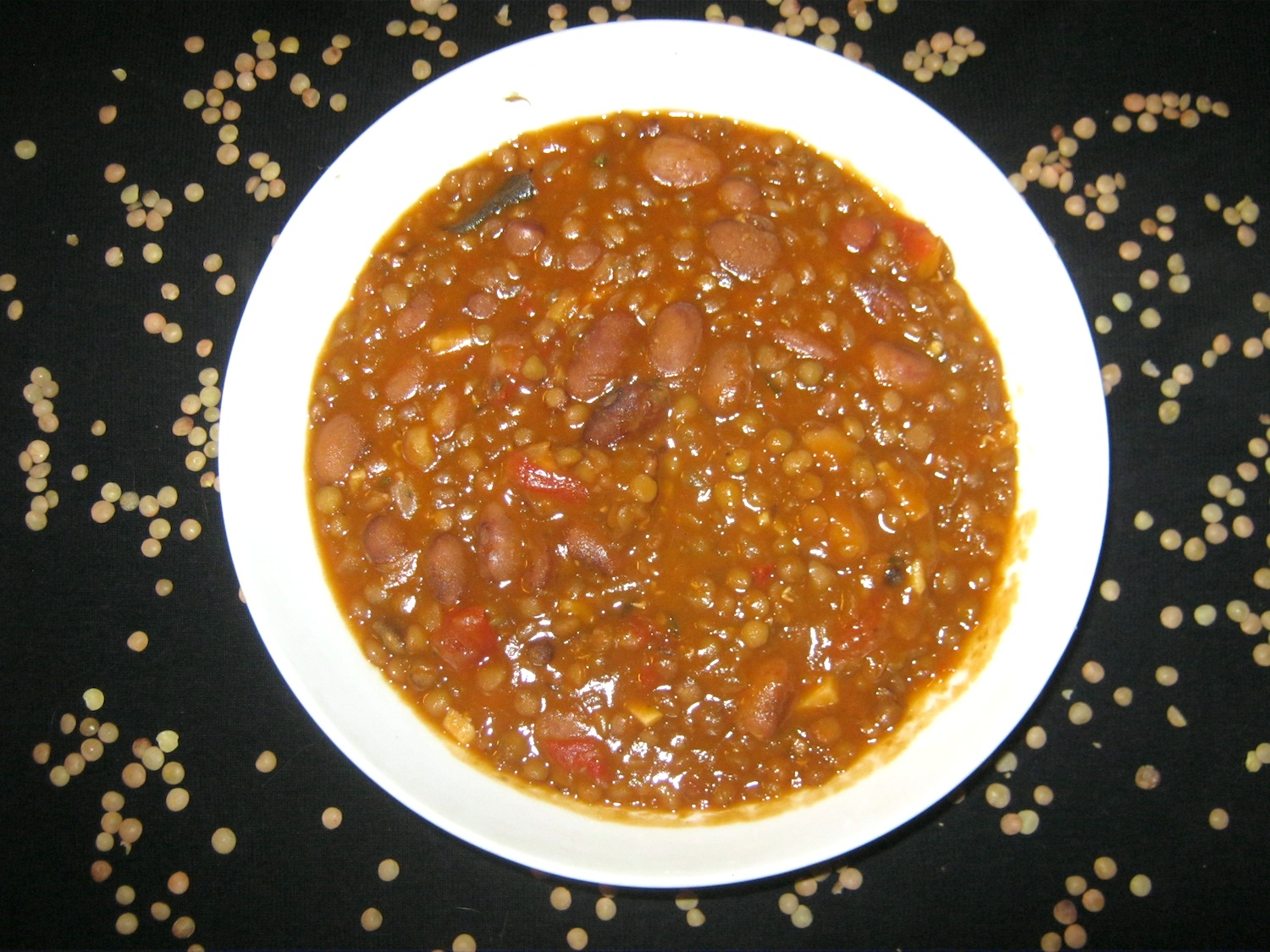 Vegan Dal Makhani in a white bowl