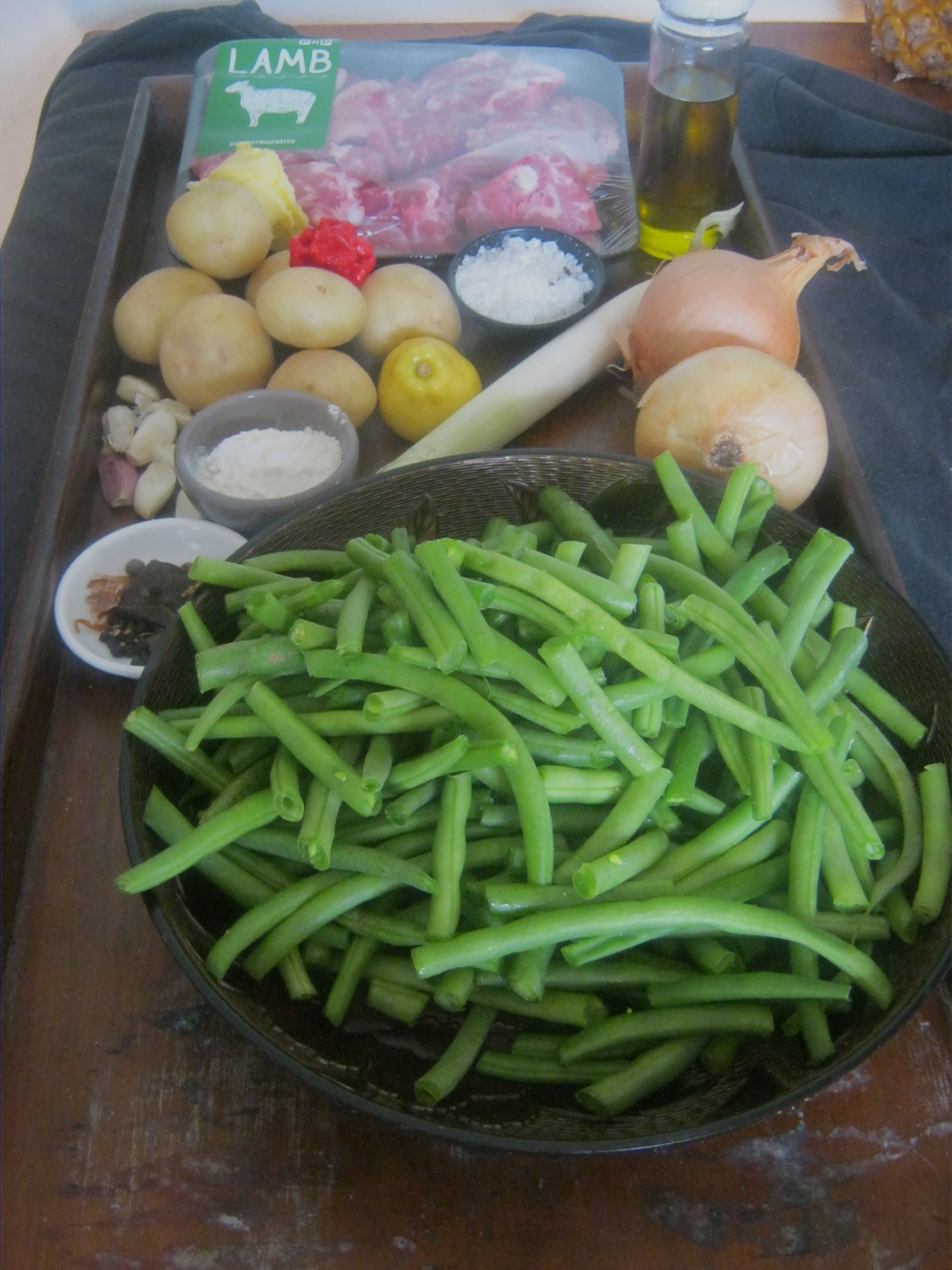 Green bean bredie ingredients