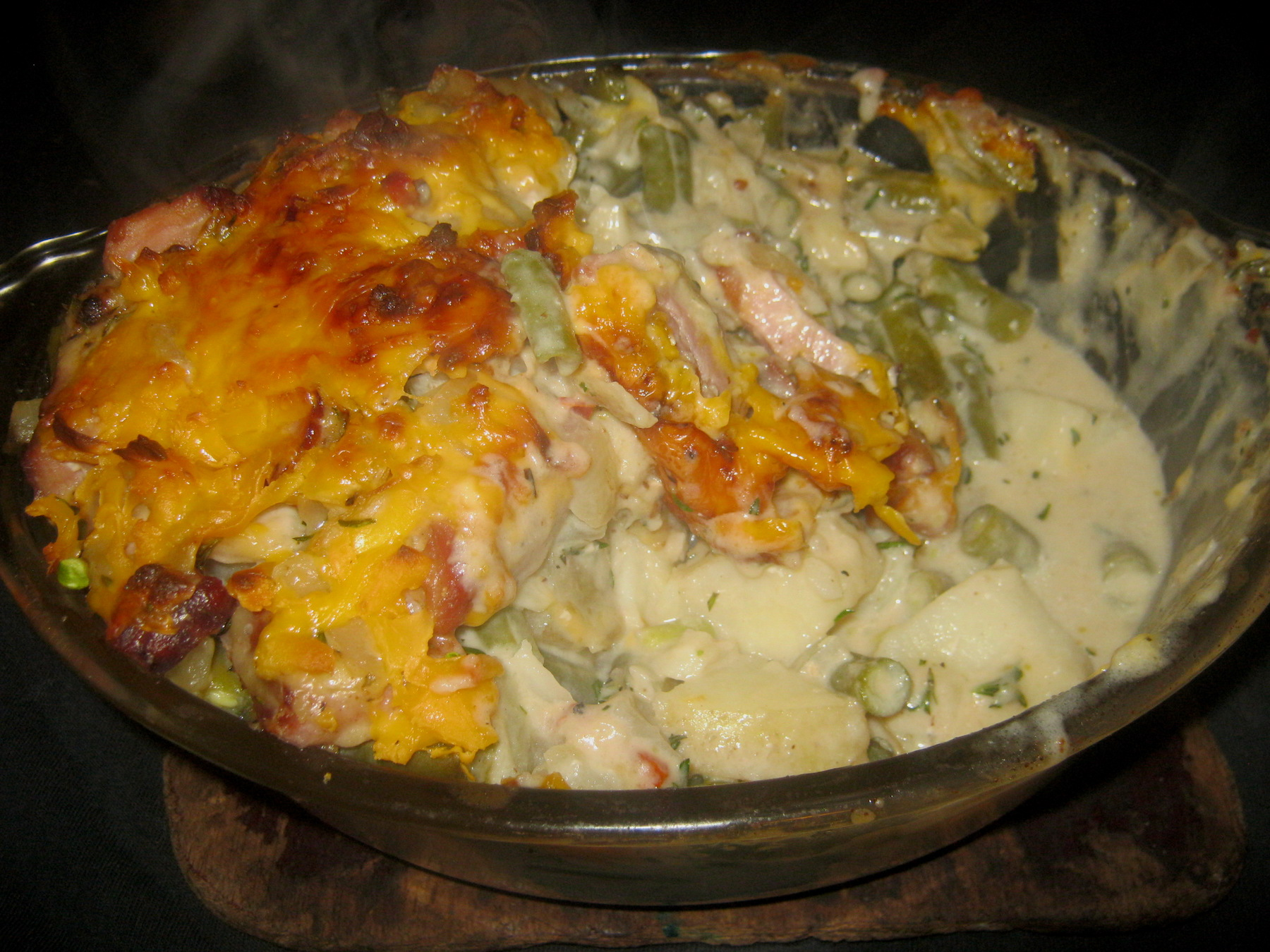 Green Bean and Smoked Gammon Steak Casserole