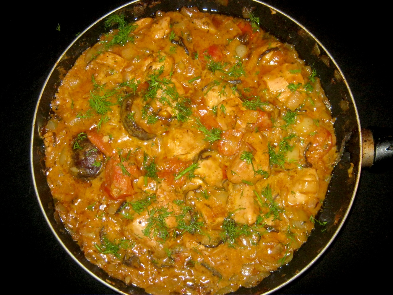 Indian Chicken Curry with Shiitake Muschrooms