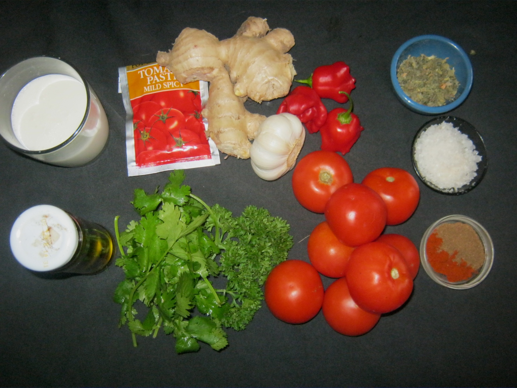 Ingredients for the Tikka masala