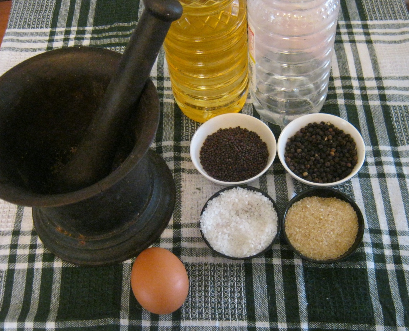 Ingredients  for homemade mayonaise recipe