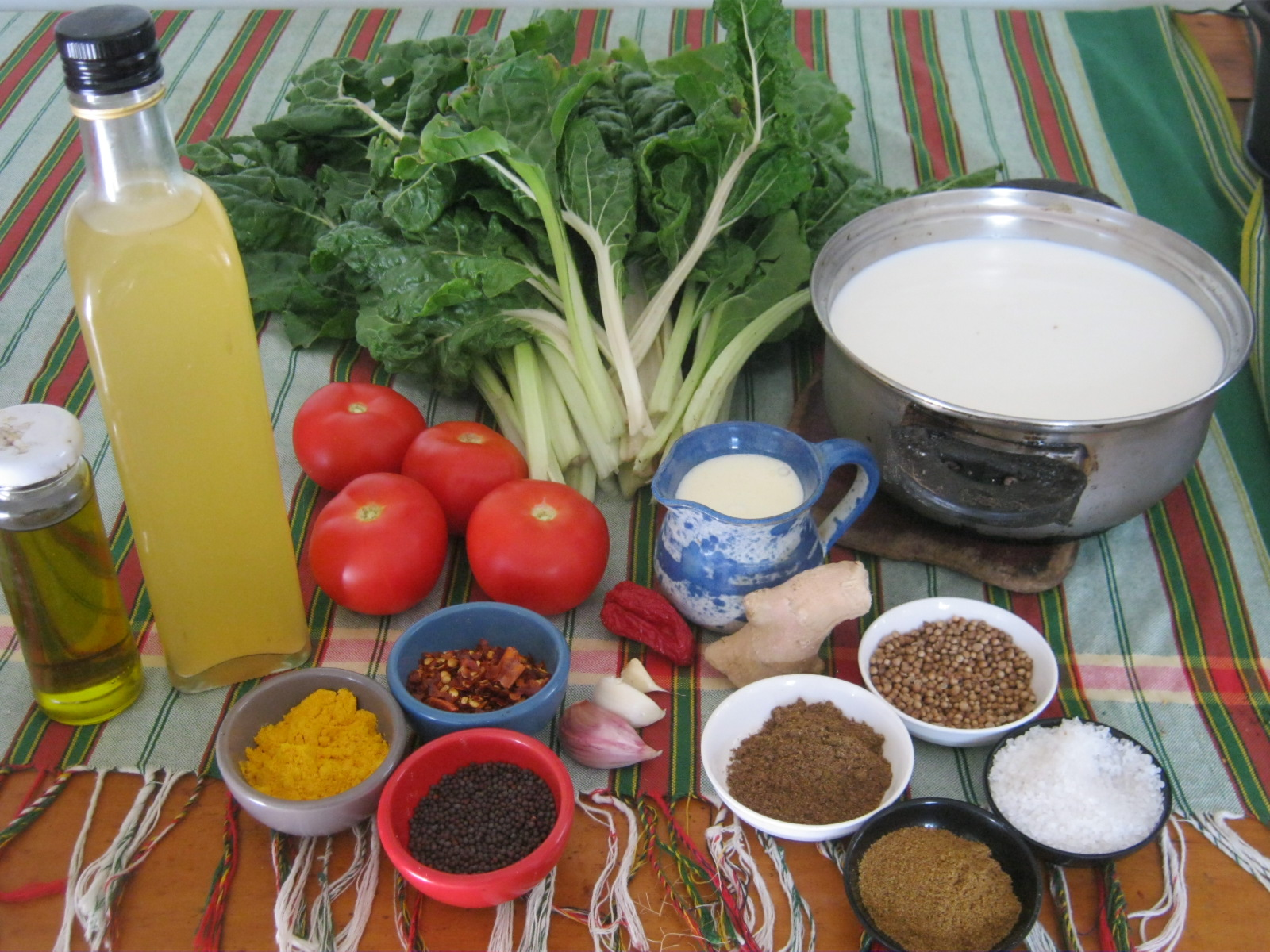 Palak peneer ingredients