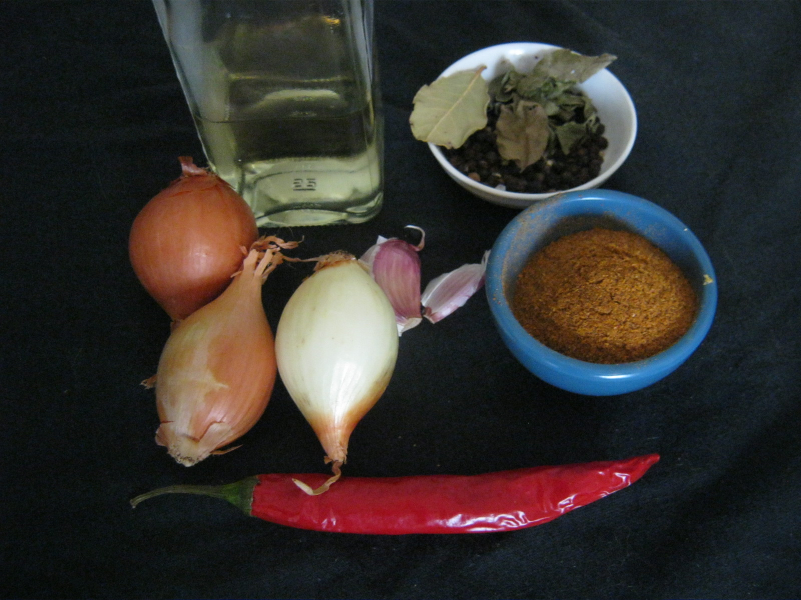 Ingredients for pickled fish