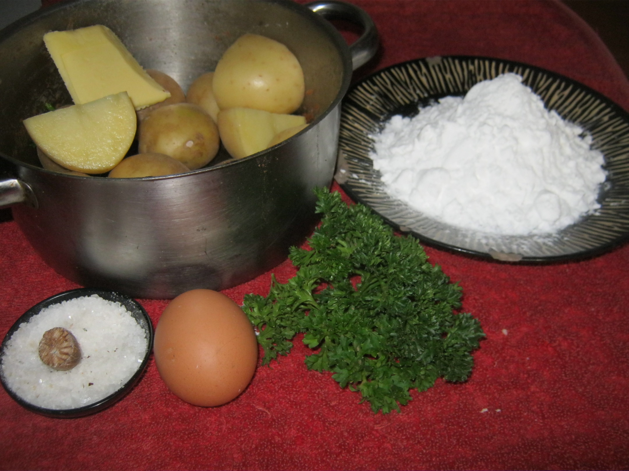 Ingredients for Potato Dumplings
