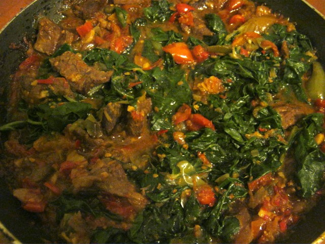 Shoko - Ghanaian beef and spinach stew