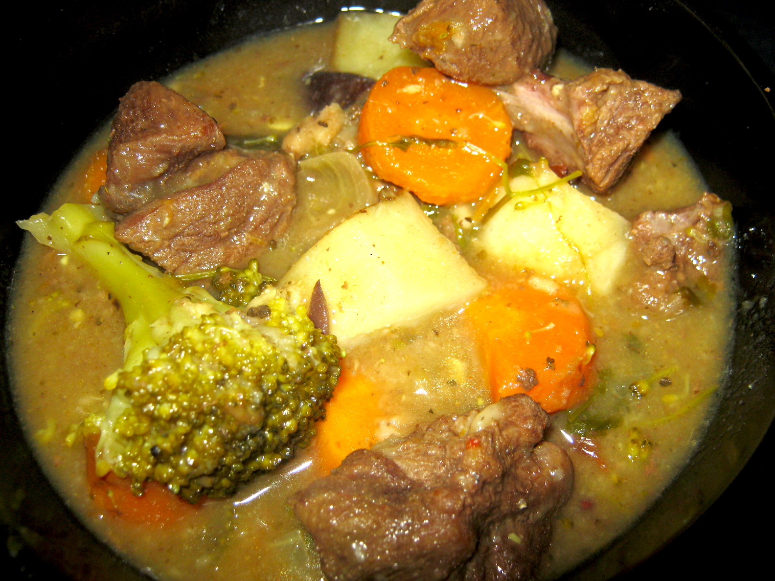 Venison stew in a bowl