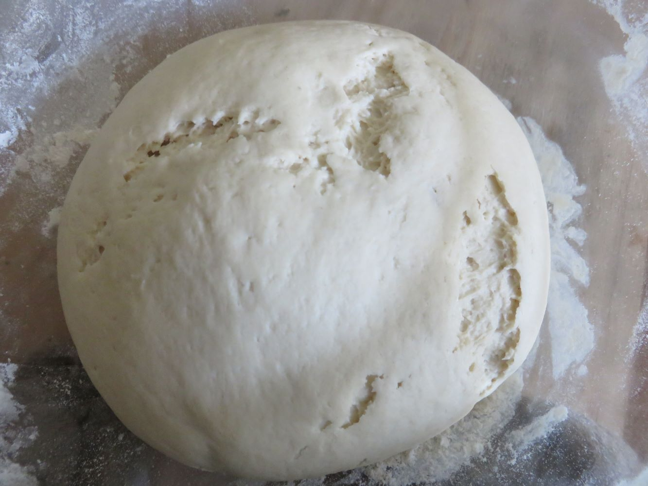 The dough literally bursting its skin. Increased 3 to 4 times.