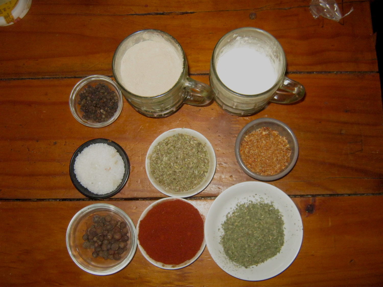 Ingredients for a homemade steak rub